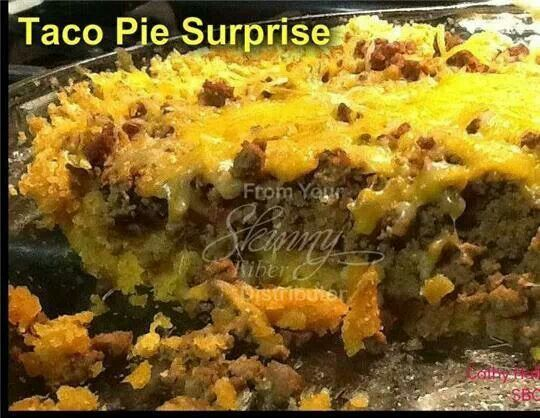 The surprise is the crust. Surprise Taco Pie Crust: 1/4 cup butter (I ...