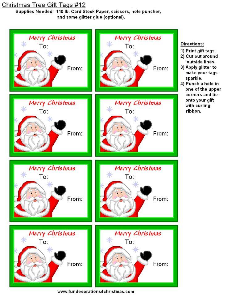Free printable christmas gift tags christmas printables for Christmas tags on pinterest