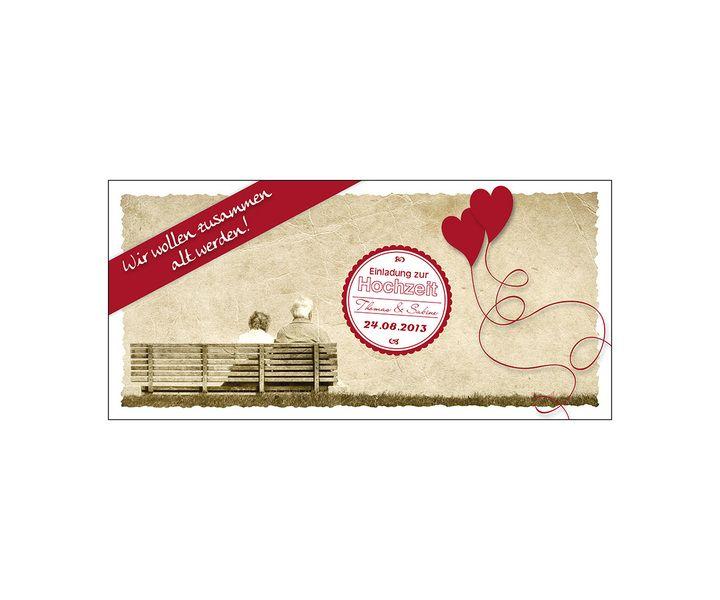 Einladungskarte Hochzeit Vintage Klappkarte von SaNe-Stücke auf ...