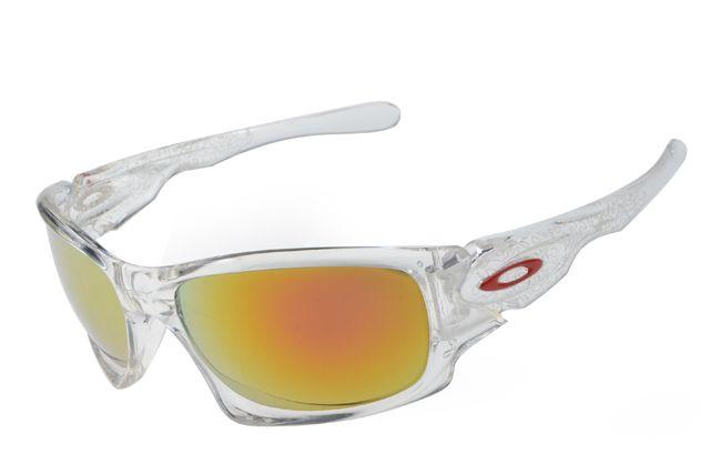 2014 Replica Oakley Ten Sunglasses Red O Logo Transparent   YellowOakley Logo Transparent
