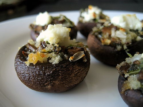 Stuffed baby bella mushrooms. | All Things Delish! | Pinterest
