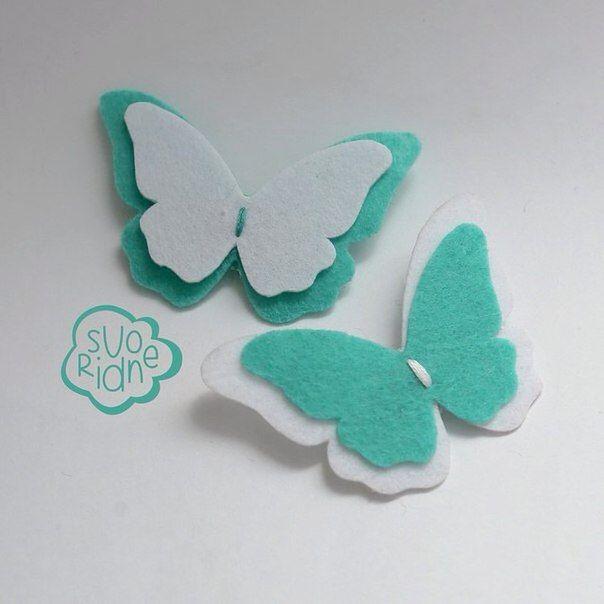 Шаблон бабочки из фетра своими руками 168