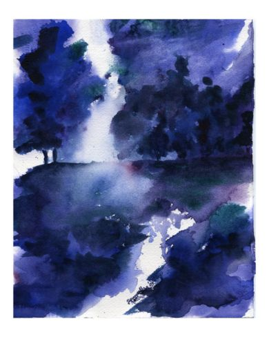 Trees Singing the Blues Giclee Print by Samantha Hallenus at Art.com