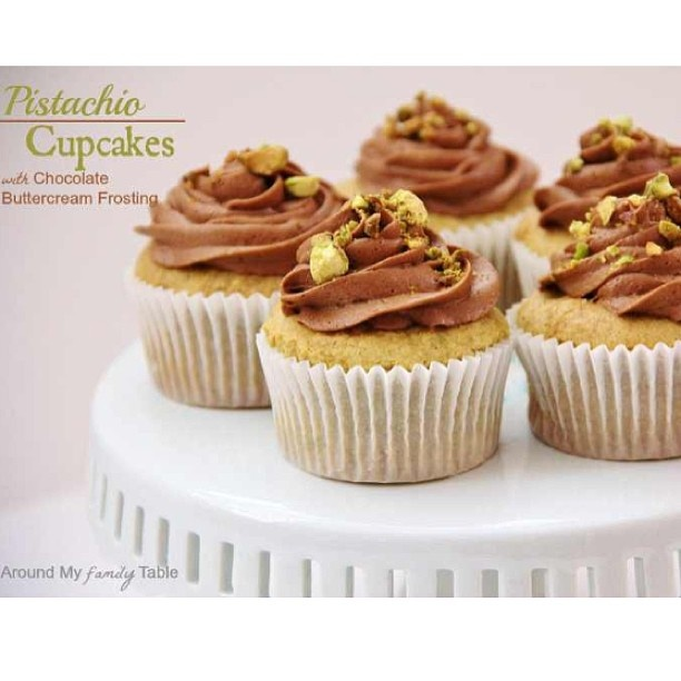 Pistachio Cupcakes with Chocolate Frosting | Recipe
