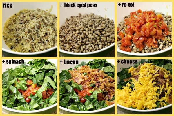 tex mex black eyed pea casserole @Bunky Bee you could make this ...