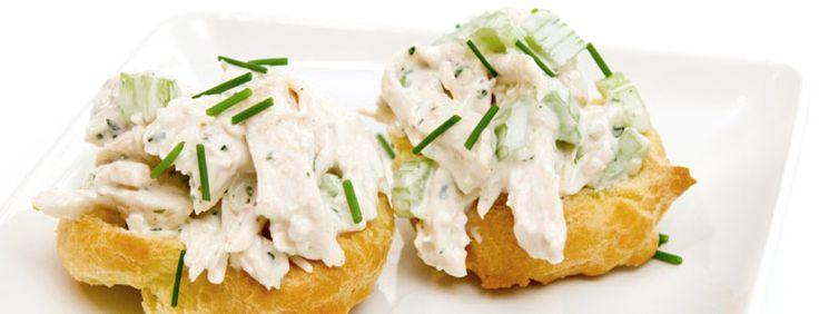 Chicken Salad Cream Puffs | Appetizers | Pinterest
