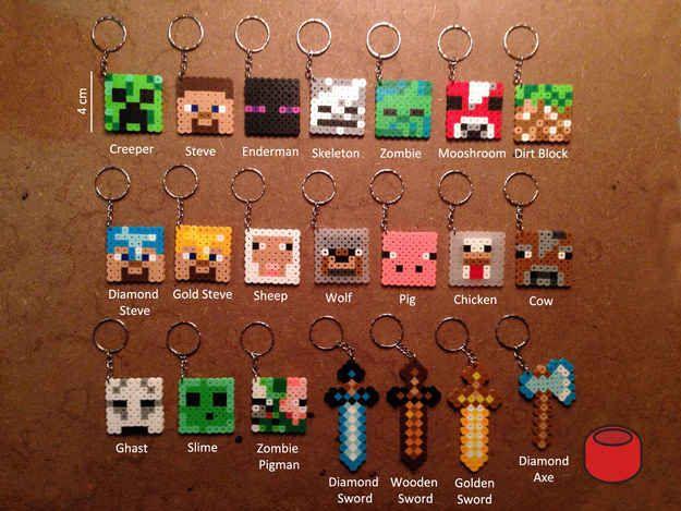 Minecraft Keychains