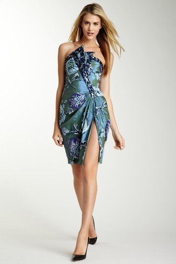 Giorgio Armani  Strapless Sequin Evening Dress