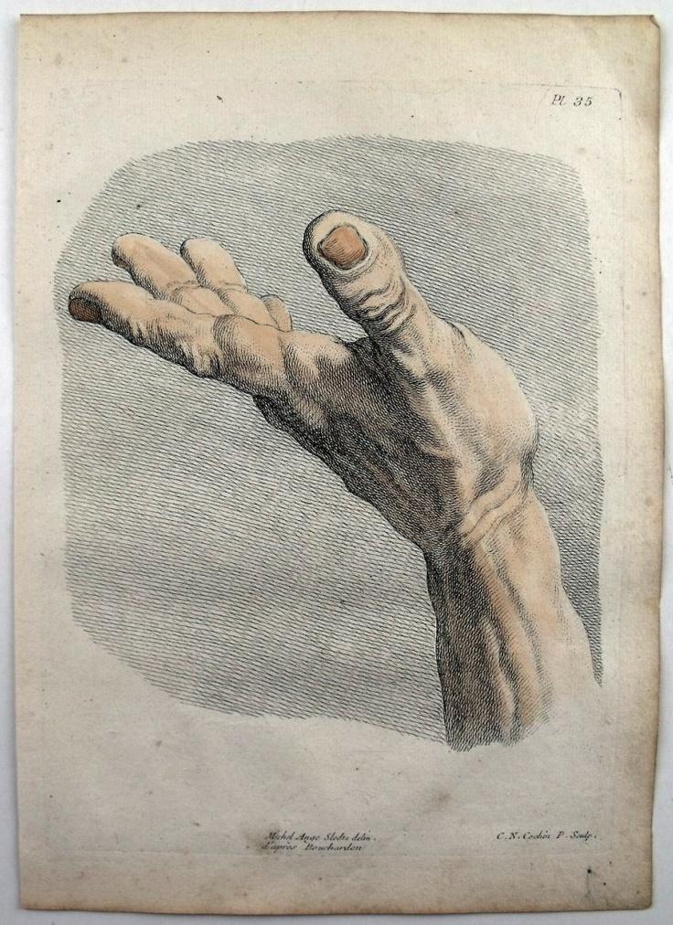 pintura de expresión manos clasicas