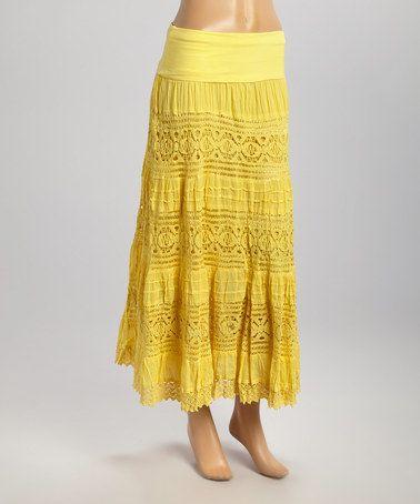 Жёлтая юбка крючок