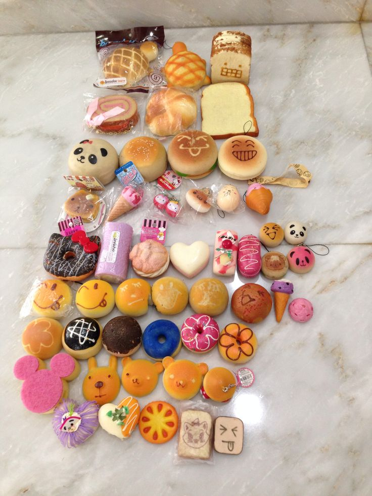 Silly Squishies Squishy Collection : My Kawaii Squishy Collection! Kawaii squishies Pinterest