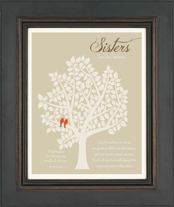 Wedding Gift For Sister Images : Maid of Honor Sister GiftPersonalized Gift for Sister on Wedding ...