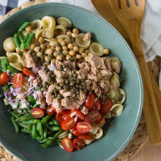 ... pasta salad: Orecchiette with Tuna, Chickpeas, Capers & Green Beans