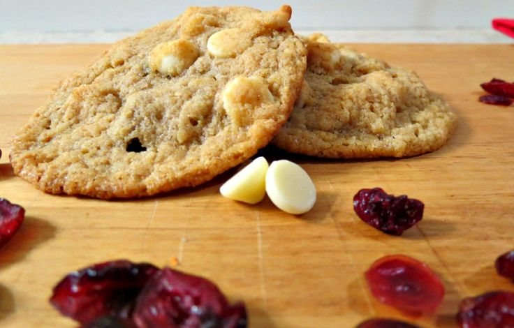Cranberry Orange White Chocolate Chip Cookies - A sweet crisp cookie ...