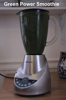 Don't have a juicer? No problem! Green power juice in a blender...no ...