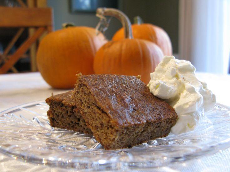 Pumpkin Pie Squares (Paleo) | BAKE {Pumpkin} | Pinterest