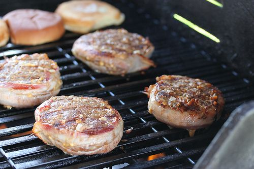 Grilled Bacon Wrapped Hamburgers Recipe- eat the burger w/o the bun ...
