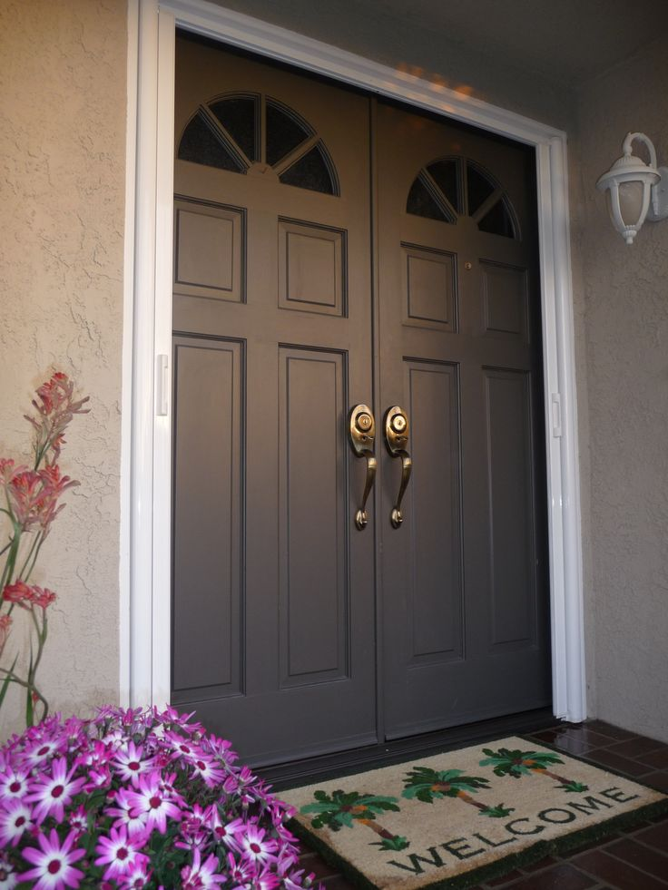 Pin by katie honda hahn on upgrades pinterest for Double front doors for homes
