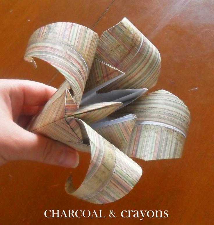 Paper lily DIY