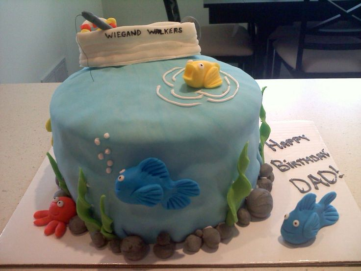 Birthday Cake Images For Father In Law : Pin by Carike Merwe on Fishing birthday ideas Pinterest
