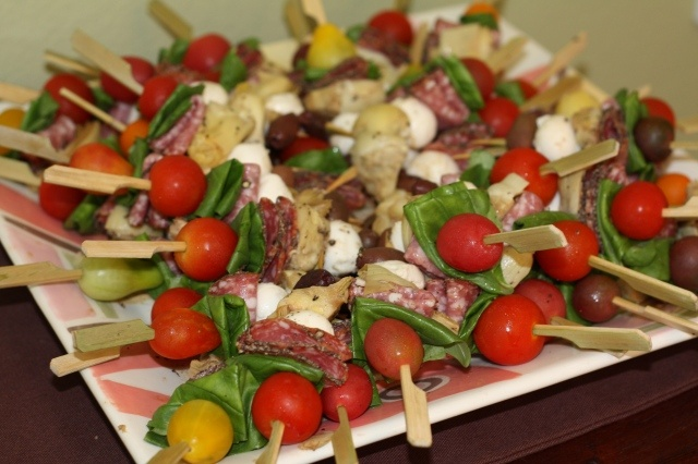 Antipasto Skewers | marina | Pinterest