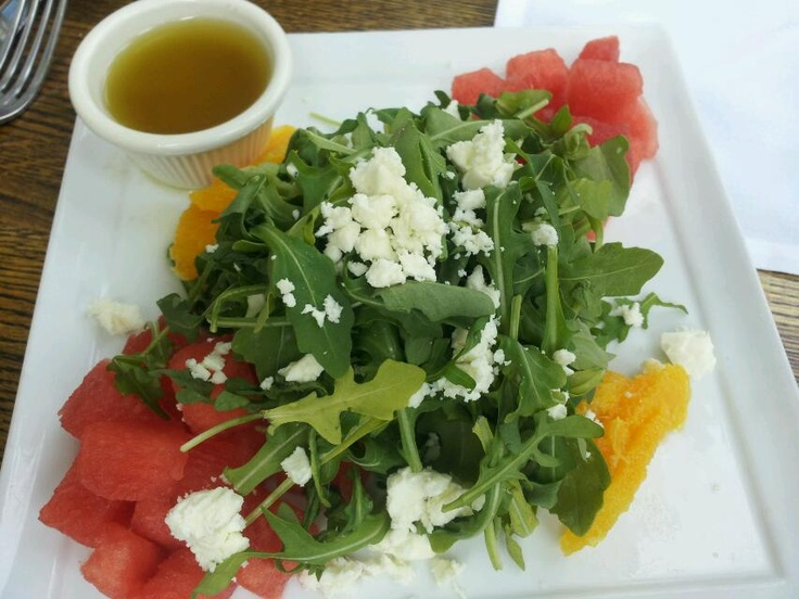 Watermelon salad with feta and arugula | Finders | Pinterest