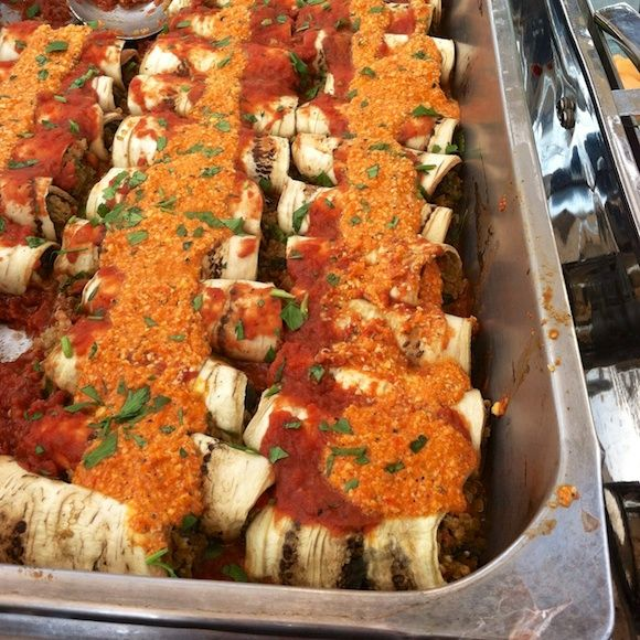 Dr. Fuhrman's Eggplant Cannelloni (Skip the Daiya type cheese on top ...