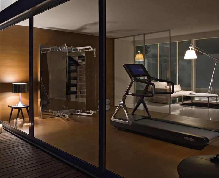 Technogym palestra in casa basement kitchen living gym pi - Palestra in casa ...