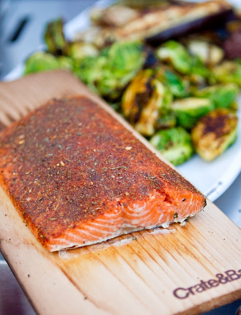 Grilled Blackened Cedar Plank Salmon |