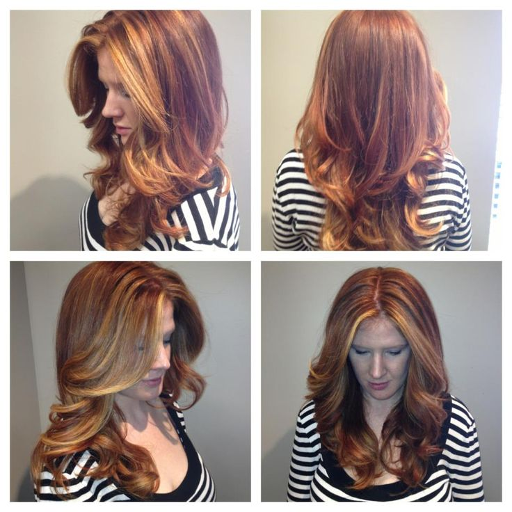 Would like more of a Red colored tint in my balayage just like this ...
