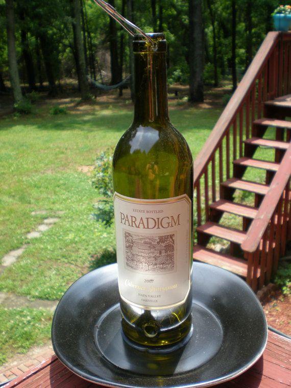 Wine bottle bird feeder for How to make a bottle bird feeder
