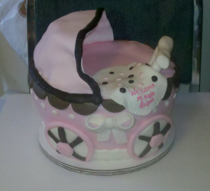 Baby Carriage baby shower cake!