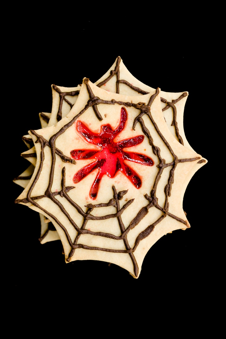 Spooky Spider Stained Glass Cookies for Halloween ~ Cupcake Project