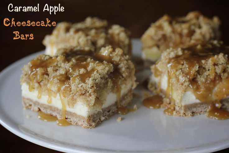 Caramel Apple Cheesecake Bars | FO D | Pinterest