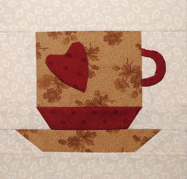 Coffee Cup Quilt Block Mug Rugs Pinterest