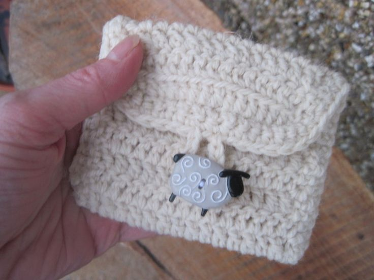 Simple Crochet Coin Purse : ... crochet coin purse made from a simple pattern ... crochet bags