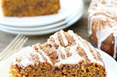 Pumpkin Cinnamon Streusel Coffee Cake — Punchfork