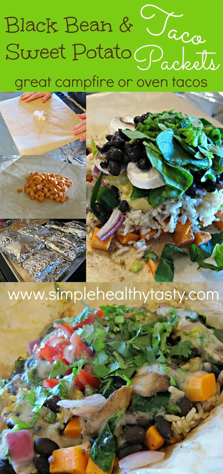 Simple. Healthy. Tasty Black Bean and Sweet Potato Taco Packets! YUM ...