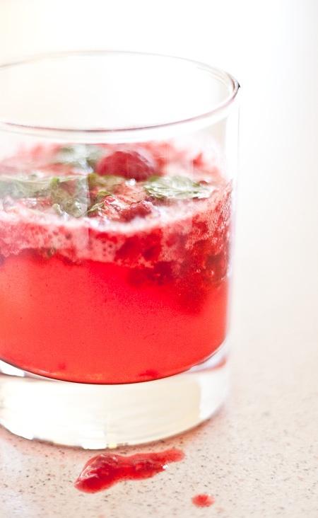 Rasberry Lime Granita in Raspberry Limeade