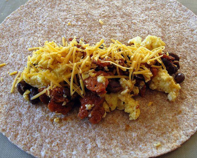 chorizo and black bean breakfast burritos (3) by Elly Says Opa, via ...