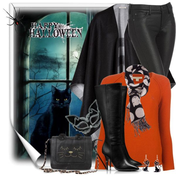 """Happy Holloween from the Cat!"" by brendariley-1 on Polyvore"