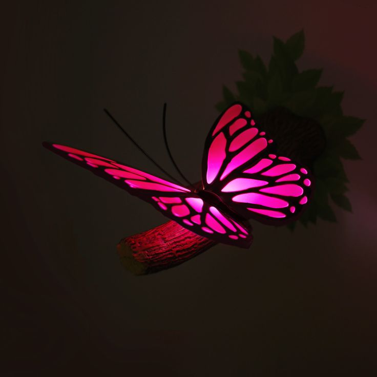 Debbie'S Power Blog: Pink Butterfly 3D Deco Light