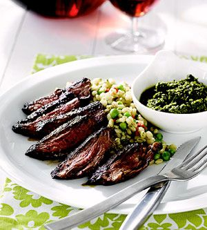 ... Recipes for a Summer Barbecue - Skirt Steak with Chimichurri Sauce