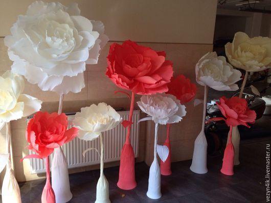 Как сделать большие цветы на свадьбу своими руками 60