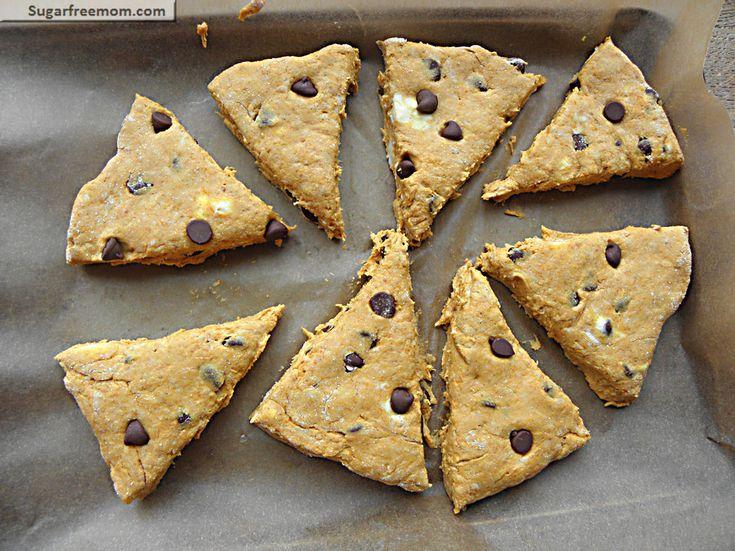 Pumpkin Chocolate Chip Whole Wheat Scones: No Sugar Added | Recipe