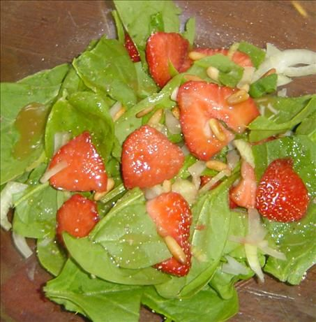 Spinach and Strawberry Salad with Honey Mustard Vinaigrette   Recipe