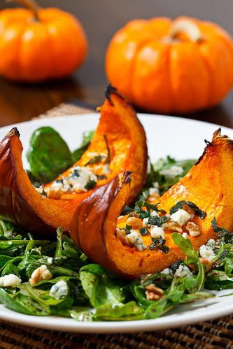 Caramelized Pumpkin And Gorgonzola Salad Recipe — Dishmaps