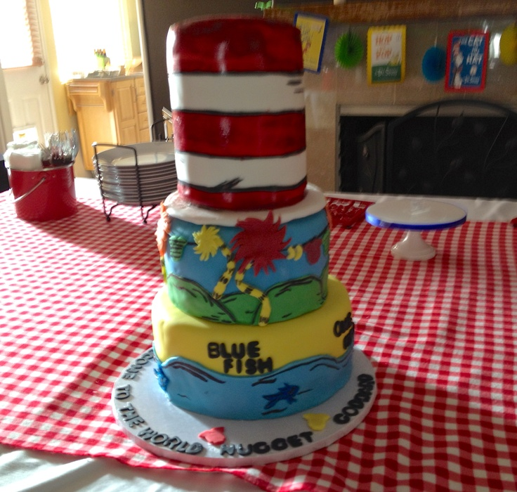 cat in the hat baby shower cake baby shower cat in the hat