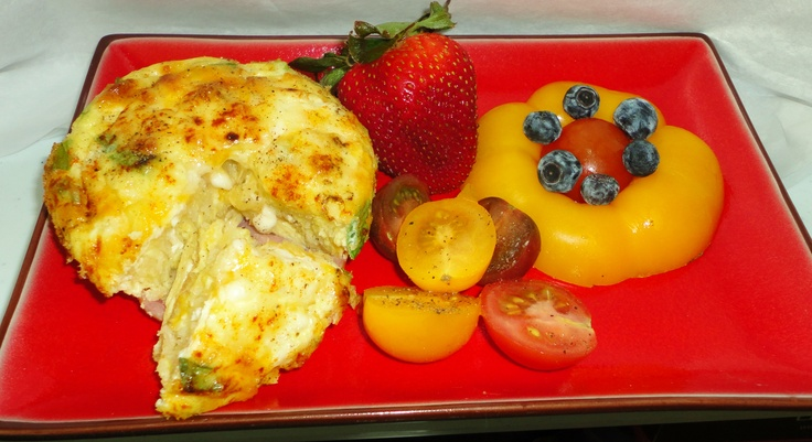 Pepper Egg Muffins, Tri-Colored Tomatoes, Yellow Bell Pepper Flower ...