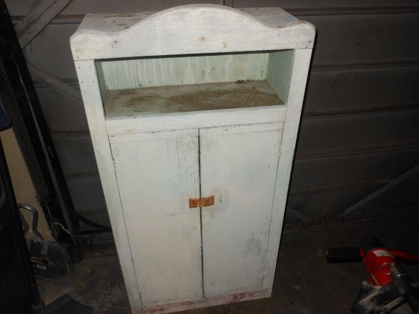 Cute shabby hutch on CraigsList | cubbies, drawers & totes... oh my ...